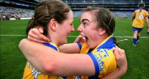 "Clare camogie players: ""The emotions that go on in sport are just so off the radar. The rest of life doesn't have this. For those two girls to react like that in real life, it would be due to winning 10 million euros on the Lotto. Or the photos of devastation that you see elsewhere would only be possible in real life if their whole family had been wiped out or something. That's the great attraction of sport. Morgan Treacy took this and it's just proof that all human life is there, no matter how big or small the competition. These two girls would have calmed down to some extent just a few minutes after this was taken. But this was the moment."""