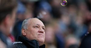 Fulham manager Martin Jol  ahead of the Premier League game against West Ham at Upton Park on Saturday. Photograph:   Photo by Ian Walton/Getty Images