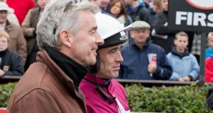 Michael O'Leary with  jockey Ruby Walsh