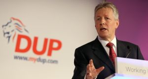 "Peter Robinson: ""Visits such as these are extremely important to developing important trade and investment relationships."" Photograph: Paul Faith/PA"