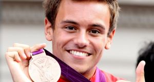 Diving star Tom Daley who said he 'couldn't be happier' after revealing he is in a relationship with a man. Photograph: PA