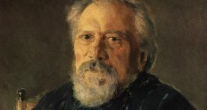 Portrait of Nikolai Leskov by Valentin Serov 1894.