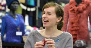 Lucy Clarke at Spring Wools, Walkinstown, Dublin. Photograph: Dara Mac Dónaill