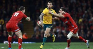 Far from being cowed when 13-3 down to Wales ,the Wallabies came back with their newfound confidence and stunning brand of inventive, Quade Cooper-inspired gain-line rugby to open up Wales, making 13 clean line breaks to seven.