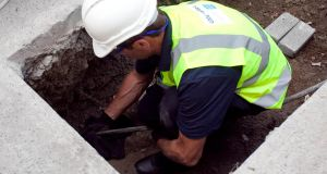 A water meter being installed. Irish Water is due to take over responsibility for the delivery of water services on January 1st next.