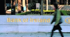 Bank of Ireland looks like showing a clean pair of heels to its own bailout. Photograph: Aidan Crawley/Bloomberg