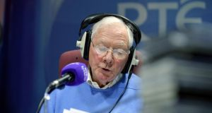 Gay Byrne presenting his show on RTÉ Lyric FM. Photograph: Alan Betson