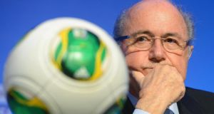 Fifa president Sepp Blatter says there is time to sort out venues in Brazil after some builds fall behind schedule. Photograph: Marcus Brandt/EPA