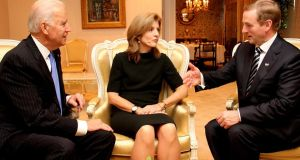 Enda Kenny meets US vice-president Joe Biden and US Ambassador to Japan Caroline Kennedy
