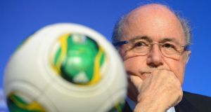 Fifa president Sepp Blatter at a press conference yesterday  in Costa do Sauipe, Brazil. Photograph: Marcus Brandt/EPA