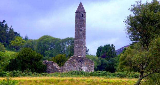 The monastic settlement at Glendalough, Co Wicklow