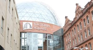 Two men have been arrested in connection with an attempted car bombing at Victoria Square in Belfast city centre.