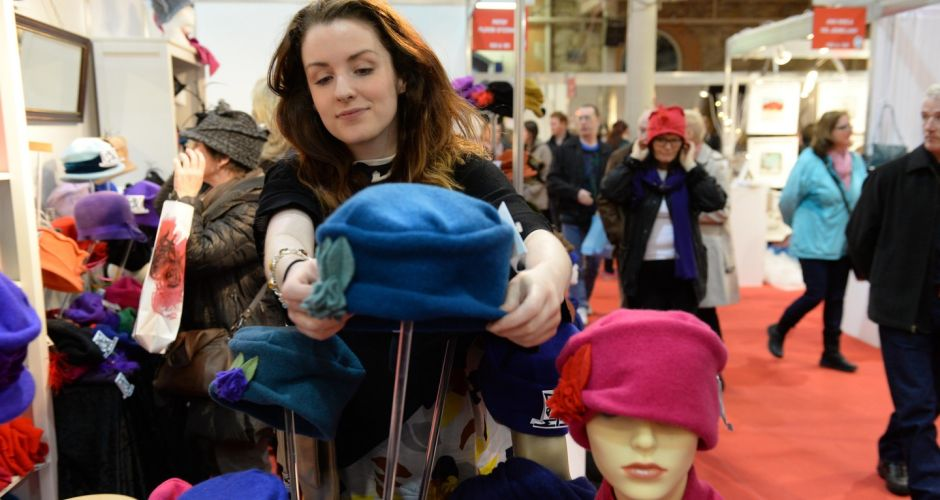 Artisanal action at the RDS crafts fair