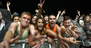 Revellers at Electric Picnic 2013 in Stradbally, Co Laois. Photograph: Brenda Fitzsimons / THE IRISH TIMES
