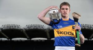 Škoda Ireland have announced the extension of their sponsorship of Tipperary GAA by another year, bringing their investment over the four-year partnership to €800,000. To mark the deal, the new 2014 Tipperary GAA strip was unveiled at Croke Park yesterday, modelled by player Brendan Maher. Photograph: Stephen McCarthy/Sportsfile