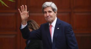 US secretary of state John Kerry: played down reports that the peace negotiations were faltering, saying some progress had been achieved. Photograph: Mohamad Torokman/Reuters