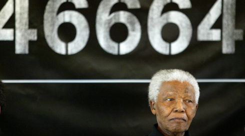 Mandela launching the second of the 46664 music concerts to highlight the plight of AIDS sufferers.  EPA/KIM LUDBROOK