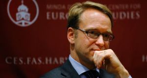 Jens Weidmann, president of the German Bundesbank and a member of the European Central Bank (ECB) governing council. Photograph: Brian Snyder/Reuters