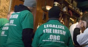 Fighting Irish: campaigners after a protest in the US in 2007. Photograph: Douglas Graham/Roll Call/Getty