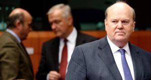 Minister for Finance Michael Noonan: We're not jumping out of the plane without a parachute.  Photograph: Francois Lenoir /Reuters