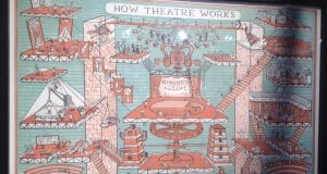 How Theatre Works, a Adam Dant lithograph