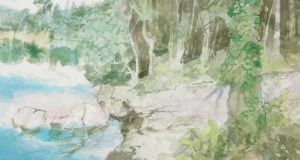 Tow Path (2001) by TP Flanagan, included in SB Kennedy's TP Flanagan: Painter of Light and Landscape