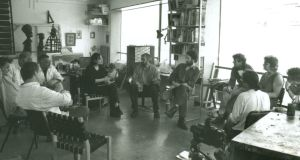 Early years: a discussion in Robert Armstrong's studio in the mid 1990s