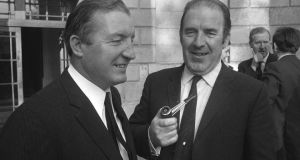 Charles Haughey with Neil Blaney in 1970 at the Arms Trial.
