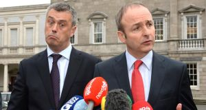Fianna Fáil leader Micheal Martin (right) has criticised changes to the Dáil's rules on parliamentary questions. Photograph: Cyril Byrne/The Irish Times.