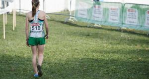 Ireland's Fionnuala Britton leaves the course  after finishing fourth in Belgrade. Photograph: Sasa Pahic Szabo/Inpho