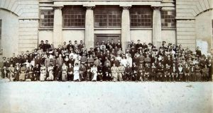The 100-year-old Galway town hall photograph, which  presents  a 'who's who' of the 1916 Rising