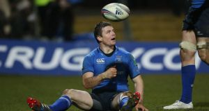 Man-of-the-match Brian O'Driscoll during the game in Franklin's Gardens. Photograph: Billy Stickland/Inpho