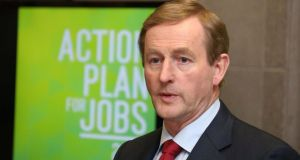 Taoiseach Enda Kenny will make a public response to mark the end of the EU-IMF bailout programme, but no details have yet been released. Photograph: Colin Keegan/Collins