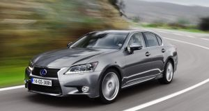 The Lexus GS300h: Inside the car, the cabin is awash with premium features.