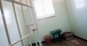 Nelson Mandela's Robben Island cell. One of his guards recalled how in the late 1970s Mr Mandela  continuously urged him to finish high school. Photograph: Patrick Barth/The New York Times