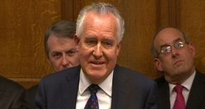 "Peter Hain pays tribute to  Nelson Mandela, in the House of Commons. ""It may seem odd to a younger generation that apartheid survived as long as it did, given that now it seems to have been universally reviled the world over,"" he said. Photograph: PA"