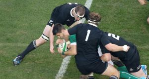 Conor Murray scores a try for Ireland against New Zealand last month. Photograph: Billy Stickland/Inpho