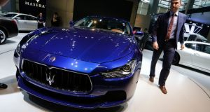 The Maserati Ghibli S Q4 at the  Guangzhou 2013 Auto Show in China. Photograph: Kin Cheung/AP