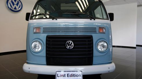 "A 2013 ""Last Edition"" model of Volkswagen's Kombi minibus. The final model will roll off the production line on Friday, December 20th."