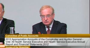 James Nugent, chairman of the CRC's board, addressing the Public Accounts Committee today.