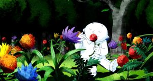 A still from Moon Man, an animated adaptation of an Ungerer book