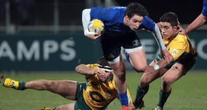 Leinster's Joey Carberry on the charge at Donnybrook last night. Photograph: Morgan Treacy/Inpho