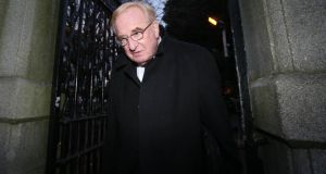 Central Remedial Clinic acting chief executive Jim Nugent leaving Leinster House after giving evidence to the Public Accounts Committee. Photograph: Niall Carson/PA Wire