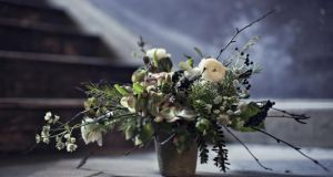 Seasonal arrangement by garden designer and florist Mark Grehan. Photographs: Richard Johnston