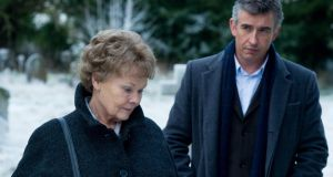 Judi Dench, pictured with Steve Coogan in a scene from the adoption drama Philomena,  has been nominated in the category of best actress in a drama for for her role in the film.