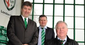 From left: David Fitzgerald, Philip Cusack and Michael Crossan are part of the consortium which has taken a majority stake in London Irish's parent company.
