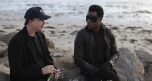 Choice voices: Aidan Gillen and Willis Earl Beal on the beach. Photograph: Rich Gilligan