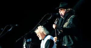 Neil Young and Crazy Horse pictured performing in the RDS in June. Photograph: Aidan Crawley