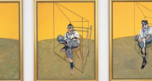 The 1969 triptych painting by Francis Bacon, Three Studies of Lucian Freud, sold for a world-record $142.4 million during Christie's art sale, making it the most expensive artwork ever sold at auction.