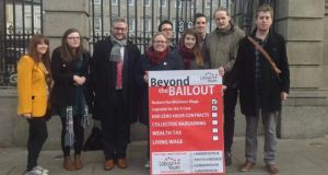 Members of Labour Youth launching their 'Beyond the Bailout' campaign today.